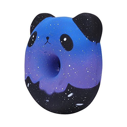 Gbell  Squishy Fidget Toys,Cute Squishies Galaxy Panda Donuts Kawaii Cream Scented Slow Rising Stress Relief Toy for Party Favors Lovely Squeezable Reliever Anxiety Decompression Toy for Baby Girls ()
