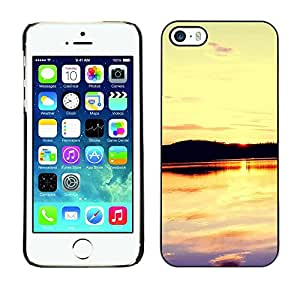 """For Apple iPhone 5 / 5S , S-type Sunset Beautiful Nature 109"""" - Arte & diseño plástico duro Fundas Cover Cubre Hard Case Cover"""