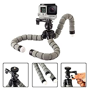 Daisen tech Octopus Style Portable and adjustable Tripod Stand Holder for iPhone, Cellphone ,Camera with Universal Clip and Remote