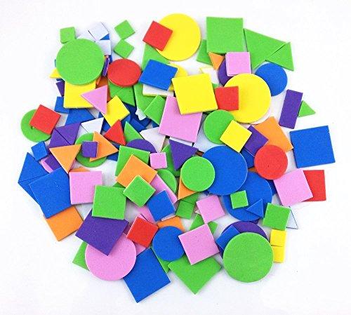 Honbay 150pcs Colorful Self Adhesive Geometry Foam Stickers
