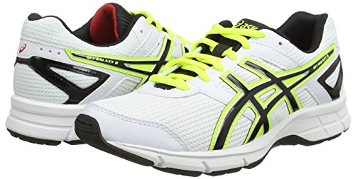 ASICS Gel-Galaxy 8 Gs - Zapatillas de correr para niños Blanco (White/Flash Yellow/True Red 0107)