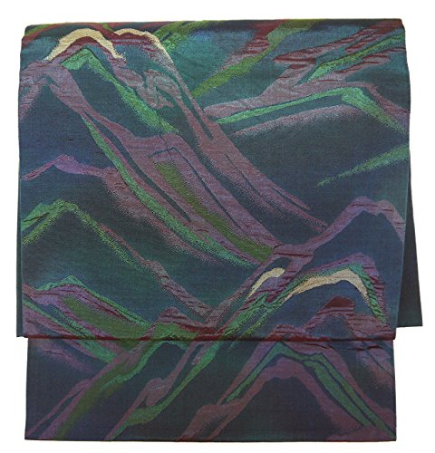 非行乳白ホイッスル(桜楓) 和裁士が作った本格 二部式 正絹 作り帯 名古屋帯 つくり帯 軽装帯 ワンタッチ帯 LL 2L 3L 4L 5L 0019 tied obi divided into two