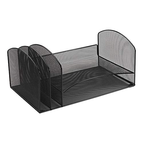(Staples 828567 Black Wire Mesh Letter Tray Sorter)