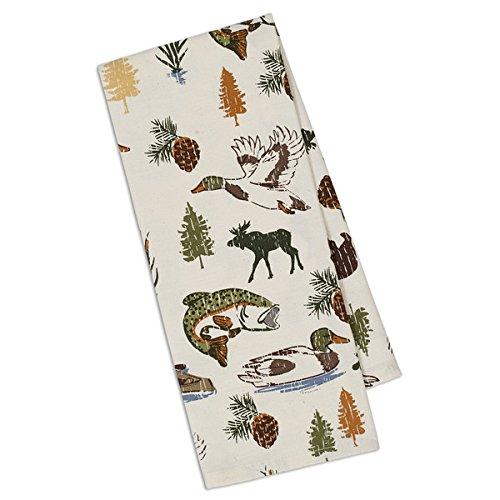 Design Imports DII Lake Wood Printed Dishtowel by Design Imports