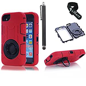 vMart Camera Appearance Design Hybrid Hard Case With Stand Case Cover for iPhone 5/5s,vMart-Red