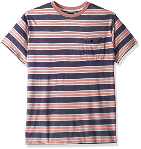 RVCA Men's Lucas Striped Crew Neck Shirt, Federal Blue, L ()