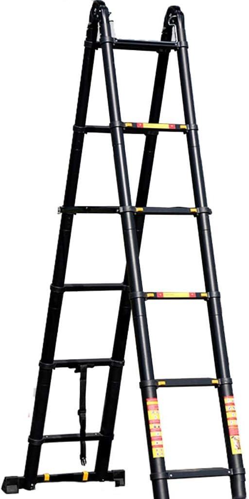 Escalera extensible Escalera telescópica Escalera telescópica de ...