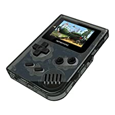 Handheld Game Console , Retro Mini GBA System Game Console 2 Inch HD Screen 548 Classic GB Games , Birthday Presents for Children - Transparent Black