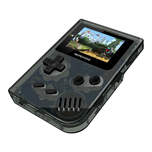 Handheld Game Console ,Retro Mini Game Console 548 Classic Game Console , Birthday Presents for Children - Transparent Black