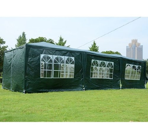 Outsunny Gazebo Canopy Party Tent with 5 Removable Window...