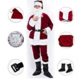 jaaytct Christmas Santa Claus Costume Santa Suit Outfit Holiday Party Cosplay Santa Costume For Men Adult