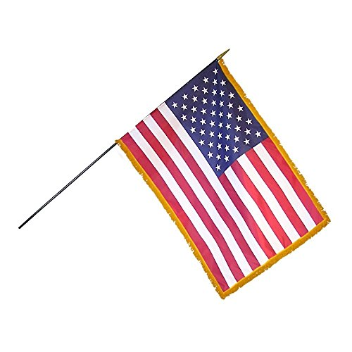 (24in x 36in US Mounted Fringed Stick Flag (3/Pack) - FG-FLGFUSI1000025803)