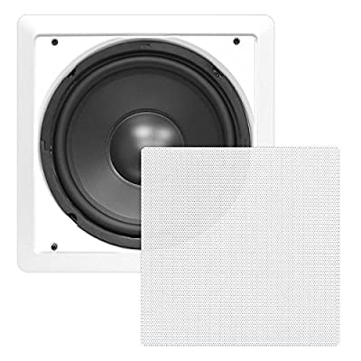 "Pyle PDIWS12 In-Wall / In-Ceiling 12"" High Power Subwoofer System, DVC, Flush Mount, White, Single Speaker from Sound Around"