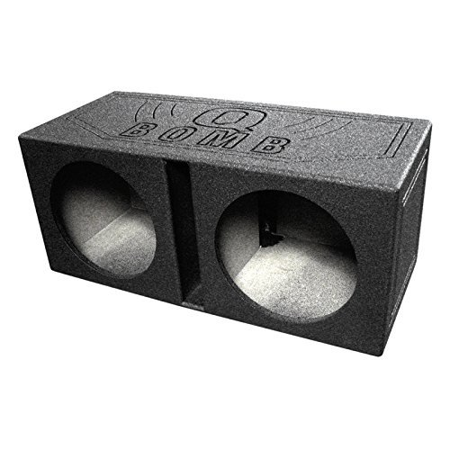 Q Power QBOMB12V Dual 12-Inch Vented Speaker Box with Durable Bed Liner Spray by Q Power