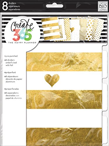 - me & my BIG ideas Create 365 The Happy Planner Gold Foil Dividers