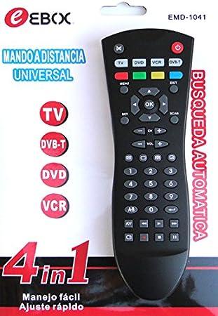 Mando A Distancia Universal 4 en 1 EMD-1041 con BUSQUEDA AUTOMATICA: Amazon.es: Electrónica