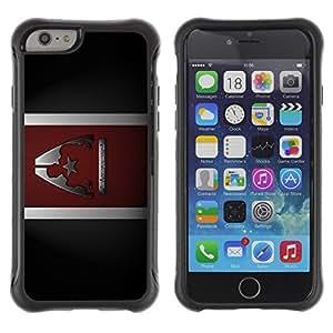 Suave TPU GEL Carcasa Funda Silicona Blando Estuche Caso de protección (para) Apple Iphone 6 / CECELL Phone case / / Commander Sheppard /