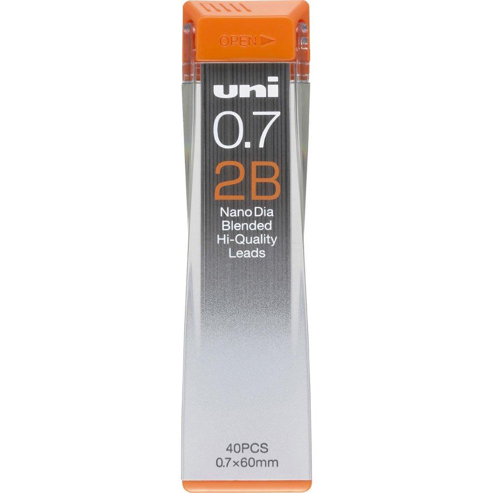 Uni Mechanical Pencil Lead, Nano Dia, 0.7mm, HB (U07202NDHB)