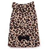 East Side Collection Polyester Posh Fleece Dog Jacket, Leopard, Medium, 16-Inch, My Pet Supplies
