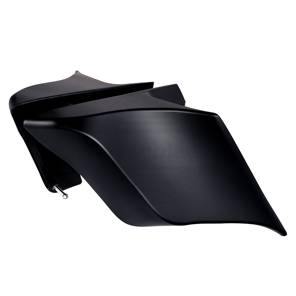 US STOCK Advanblack Denim//Matte Black Extended Side Covers Stretched Panels Fit for Harley Touring Street Glide Road Glide 2014 2015 2016 2017 2018 2019
