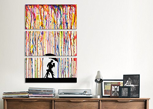 iCanvasART MAE27 3-Piece Tempest by Marc Allante Canvas Print, 60 by 40-Inch, 1.5-Inch Deep