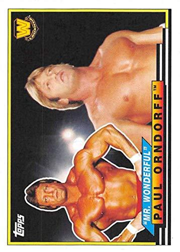 2018 Topps Heritage WWE Big Legends #BL-37 Mr. Wonderful Paul Orndorff Wrestling Card