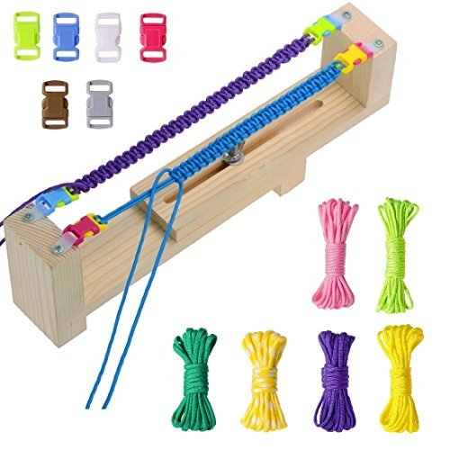 Dreamtop Jig Bracelet Wristband Maker with 6 Parachute Cords and 6 Buckles Paracord Braiding DIY Craft Tool Kit 4336835703
