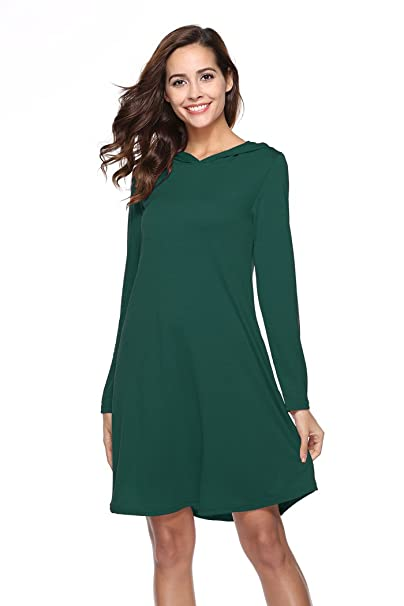 c19665cec POGTMM Christmas Hoodies For Women Holiday Hoodies Dress With Long Sleeves  (US L, Dark
