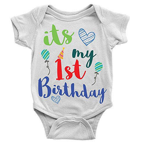 Kickass Tees It's My 1st Birthday Babygrow Cool Sweet First Celebration Balloons Gift Present