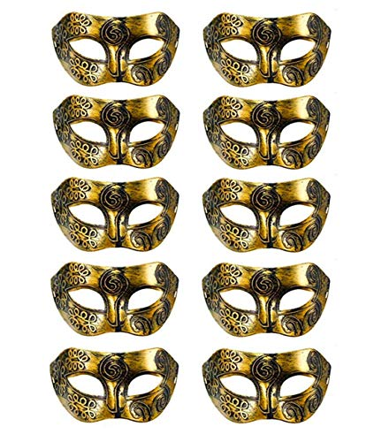 Ru S 10pcs Set Mardi Gras Half Masquerades Venetian Masks Costumes Party Accessory]()