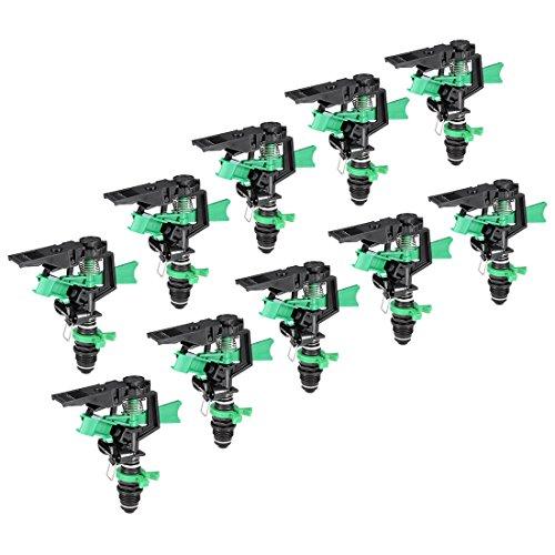 uxcell 10Pcs ABS Plastic Impact Sprinkler Head Adjustable 0-360 Degree 34Ft-60Ft Spray (Impact Plastic Sprinkler)