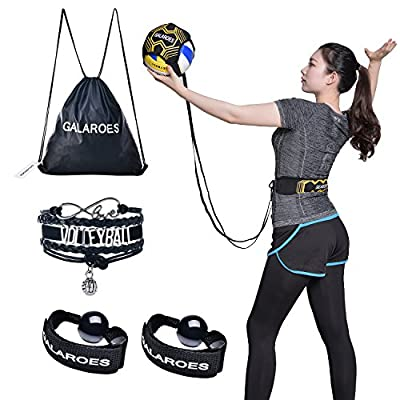 GALAROES Volleyball Training Equipment Aid : Solo Practice for Serving and Arm Swings Trainer - Practice Overhand Serve, Spike, Arm Swings, Hitting. Returns The Ball After Every Swing.