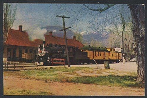 (TRUCKEE VIRGINIA Narrow Gauge TRAIN Engine Railroad Postcard)