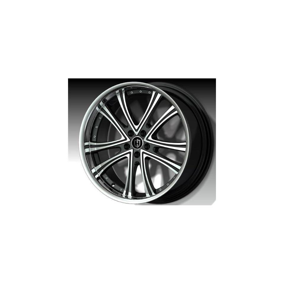 Curva Concepts C179 18x8 Inch 5x114.3 Black Machine Face Wheel