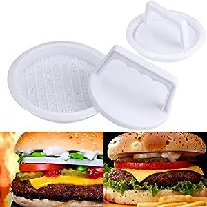 Burger Press, Kemilove Patty Press Form Hamburger Mold Maker Round Meat Mince BBQ