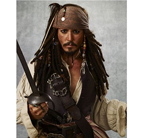 Pirates of the Caribbean Johnny Depp as Captain Jack Sparrow Ready to Fight 8 x 10 Inch (Pirates Of The Caribbean Captain Davy Jones)