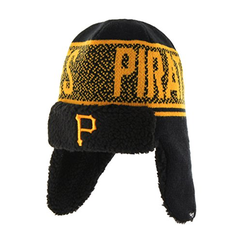 MLB Pittsburgh Pirates '47 Asteroid Sherpa Knit Beanie, Black, One Size (Pittsburgh Pirates Official Base)
