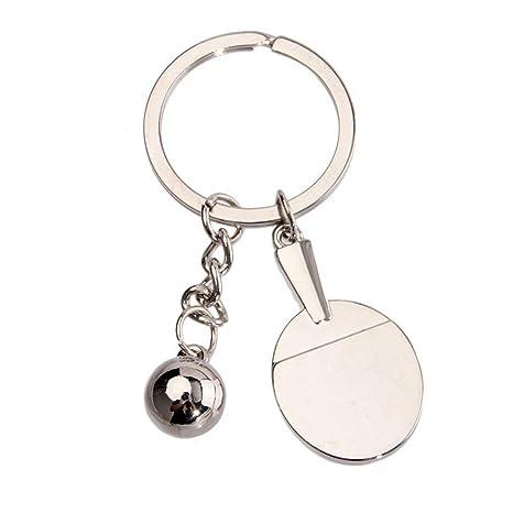 JMT-0825 Ping Pong Racket Keychain Keyring Creative Gift ...