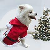 Enjoying Doggy Christmas Coat Puppy Cat Dog Christmas Costume with 4 Legs Hoodie - Medium