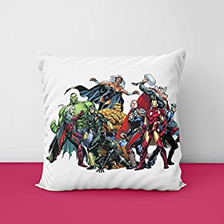 51%2BzcVwHv5L. SS320 Avanger's Marvel Square Design Printed Cushion Cover