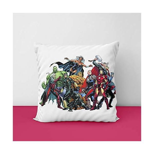 51%2BzcVwHv5L Avanger's Marvel Square Design Printed Cushion Cover
