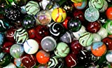 125 Count Bulk Assorted Premium 1 Inch Shooter Glass Mega Marbles