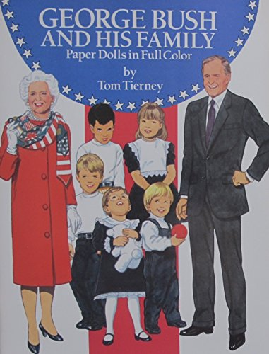 Barbara Bush Costume (Tom Tierney GEORGE BUSH and His FAMILY PAPER DOLLS Book (UNCUT) in Full Color w 2 Card Stock DOLLS, 24 Card Stock COSTUMES & 10 Card Stock FULLY COSTUMED DOLLS (1990))