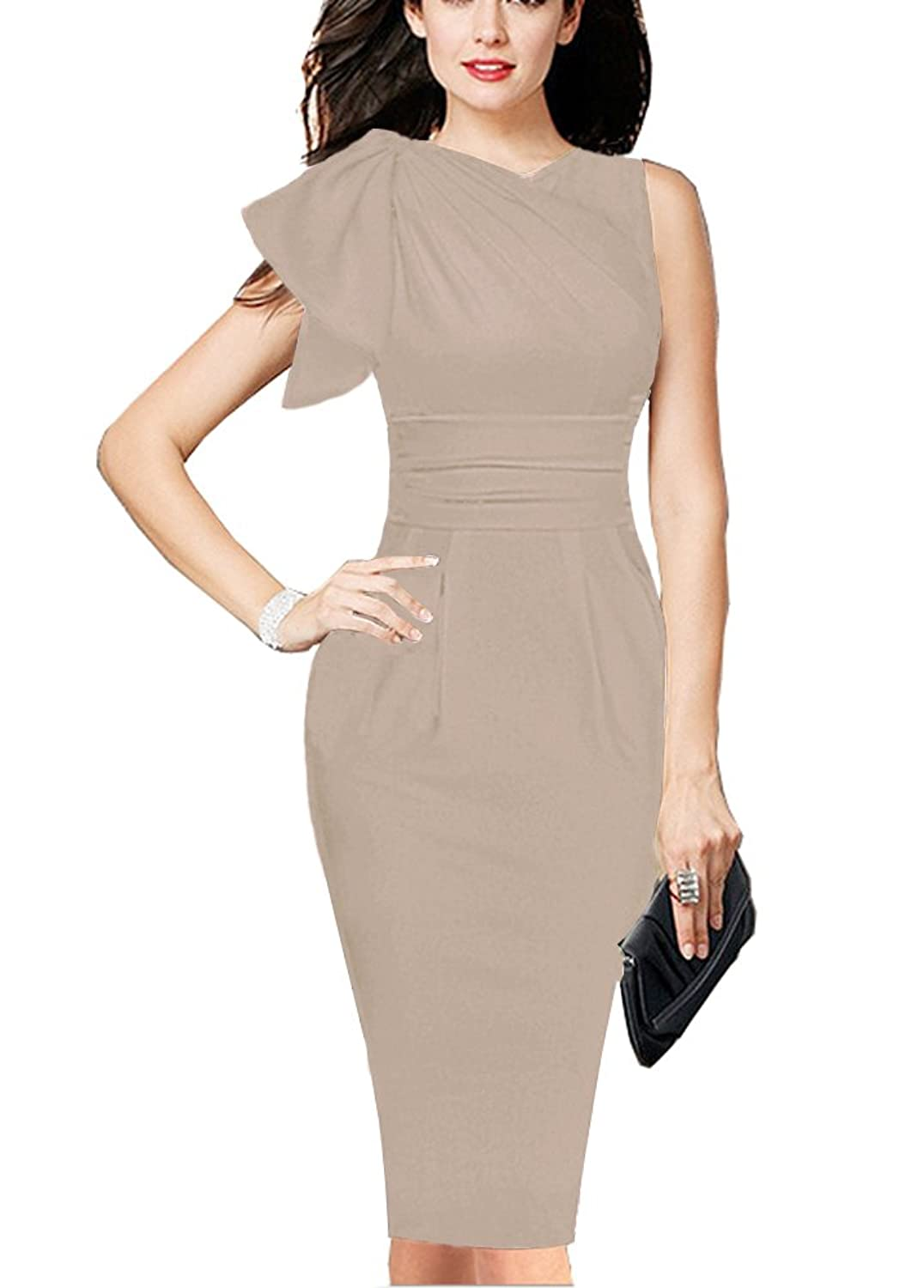 REPHYLLIS Women Elegant Sleeveless Working Cocktail Casual Party ...