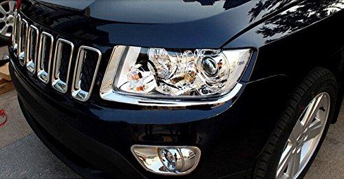 Wylore Auto Scheinwerfer Front Light Lamp Lid Cover Trim 2/Fit f/ür Jeep Compass 2011 2015/KFZ Au/ßen Zubeh/ör Styling