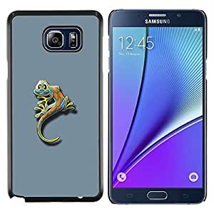 "Be-Star Único Patrón Plástico Duro Fundas Cover Cubre Hard Case Cover Para Samsung Galaxy Note5 / N920 ( Cute Funny minimalista Gecko Gecko Lizard"" )"