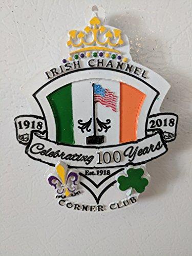 St. Patrick's Day 2018 Irish Channel Corner Club Throw Magnet