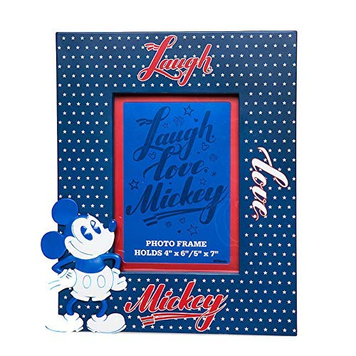 (Disney Mickey Mouse Americana Picture Frame 4x6'' Or 5x7'')