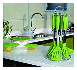 Kuke Silicone Kitchen Utensil Cooking Tools (Green- 6 pcs sets)