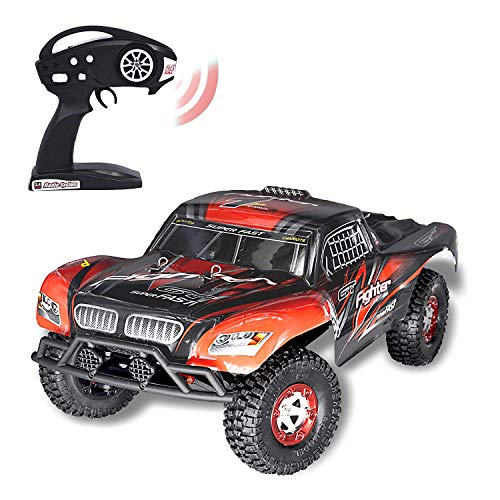 Brushless RC Short Course Truck, Keliwow 1/12 Scale 4WD 40 MPH High Speed Off-Road Racing RC Car 2.4GHz Remote Control Vehicles RTR (#01-Red)